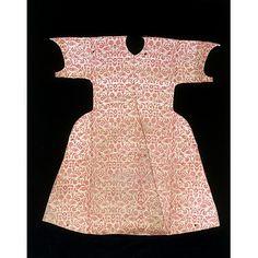 Kaftan, Turkey, 16th century.  Silk, cotton and silver thread, woven