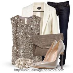 Taupe  cream outfit for a semi formal dinner