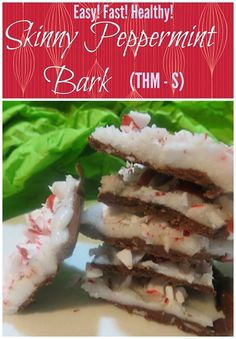 This Skinny Peppermint Bark is sugar free, low carb and easy and fast to make! It would be an S on Trim Healthy Mama.