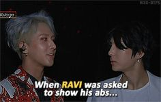 VIXX | LR When Ravi was asked to show abs
