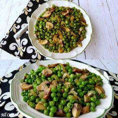 Italian Peas with Mushrooms – Special Family Easter Tradition Roasted Vegetable Recipes, Mushroom Recipes, Veggie Recipes, Cooking Recipes, Healthy Recipes, Healthy Foods, Yummy Recipes, Healthy Eating, Yummy Food