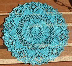 Crochet a long Doily, pattern free on ravelry.