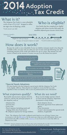 Adoption 101: The Adoption Tax Credit [Infographic]