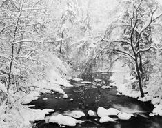 Spring Creek in Heavy Snow | From a unique collection of landscape photography at https://www.1stdibs.com/art/photography/landscape-photography/