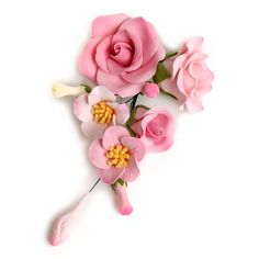 Pink Bride Rose gumpaste sugarflower cake decoration perfect as a cake topper for cake decorating fondant cakes and wedding cakes. | CaljavaOnline.com