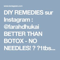 DIY REMEDIES sur Instagram : @farahdhukai BETTER THAN BOTOX - NO NEEDLES!  ✅1tbsp corn starch ✅^^mix in 1/2 cup water ✅BOIL 1/2 cup water + add corn starch mixture (DO…