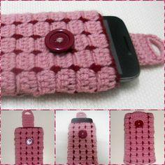 Cell phone case Part-1 crochet Tutorial-Hackovanie Crochet