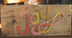 Joy String Art
