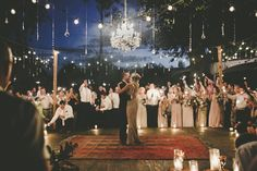 Persian rug + chandelier // dancing under the stars