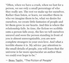 The Fiction of People by Beau Taplin                                                                                                                                                     More