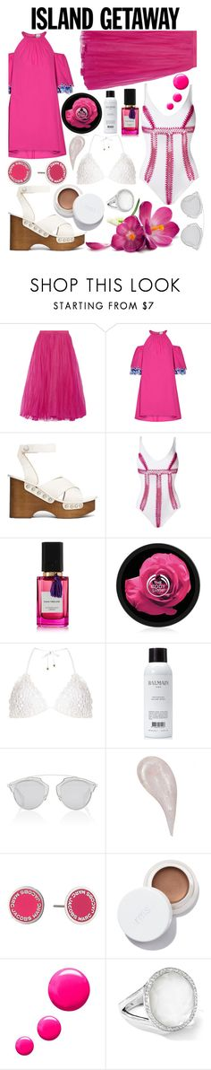 """""""Pink orchid"""" by callyfordham ❤ liked on Polyvore featuring Gucci, Peter Pilotto, rag & bone, Amir Slama, Diana Vreeland Parfums, The Body Shop, Dorothy Perkins, Balmain, Christian Dior and Marc Jacobs"""