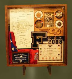 12e66a86f191 Custom Made Wood Shadow Boxes For Sports Shadow Box Memory