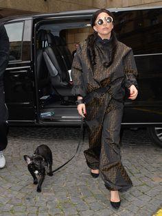 Lady Gaga wears vint