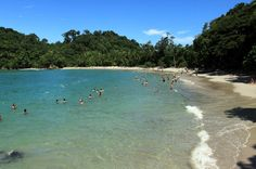 Manuel Antonio Beach - white sand and calm blue water