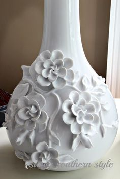 paint glass vase, add melted spoon flowers - Savvy Southern Style: Most Recent Project....the master