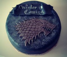 2015 Game of Thrones Season 5 chocolate cake with wolf for birthday party - Winter is coming Game Of Thrones Cake, Fathers Day Cake, Cake Games, Cake Board, Occasion Cakes, Love Cake, Creative Cakes, Cupcake Cookies, Tiered Cakes