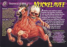 Name: Nuckelavee Category: Monsters of the Mind Card Number: 55 Front: Nuckelavee Monsters of the Mind card 55 front Back: Nuckelavee Monsters of the Mind card 55 back Trading Card: Monster Book Of Monsters, Monster Cards, Sea Monsters, Mythological Monsters, Mythological Creatures, Mythical Creatures, Monster Hunter World, Wild Creatures, Cryptozoology