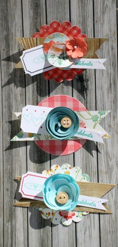 Crafts-Hmmmm....I can make things like these easily with my scrapbook tools but what to do with them? Favors? Candy jars?  Handmade Embellishments