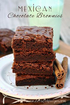 Mexican Chocolate Brownies on MyRecipeMagic.com