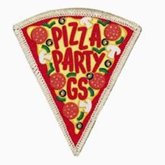Girl Scout Shop - Pizza Party Patch    Spin Pizza?