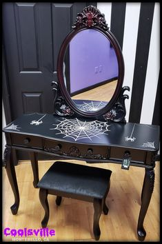 Browse all products in the Furniture category from Spitfire Interiors. Gothic Furniture, Home Decor Furniture, Painted Furniture, Funky Furniture, Home Design, Gothic Vanity, Goth Home Decor, Spooky House, Diy Vanity