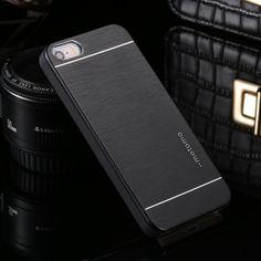 Ultra Dunne Motomo Aluminium Borstel Hard Metal Case voor iPhone 4 4 S 5 5 S SE 6 6 S 7 Plus Case Cover Beschermende Mobiele Telefoon gevallen