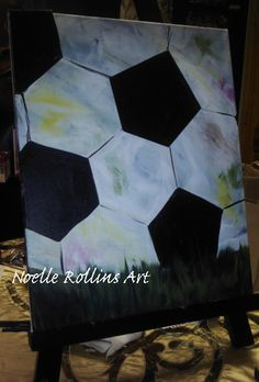 soccer canvas painting - Google Search