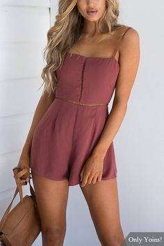 Sexy Knot Design Hollow Playsuit