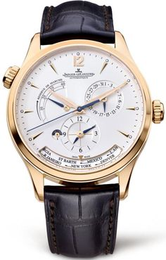 Jaeger LeCoultre Watch Master Geographic Rose Gold