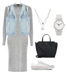 """""""Casual"""" by kaosica ❤ liked on Polyvore featuring River Island, CO, Converse, Kate Spade, Kenneth Cole and Normal Timepieces"""