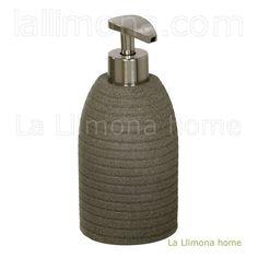 Dosificador de baño círculos modelo sand moka. Altura: 17 cms. http://www.lallimona.com/online/bano/