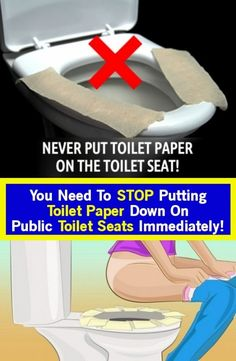 You immediately need to stop putting toilet paper on public toilet seats! Read here Why! Healthy Tips, Healthy Choices, How To Stay Healthy, Healthy Herbs, Bathroom Seat, Toilet Paper Dispenser, Public Bathrooms, Health Talk, Toilet Seats