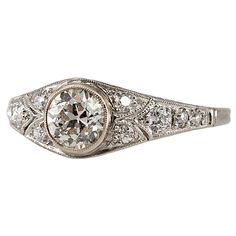 1STDIBS.COM - Bezel Set Daimond Engagement Ring - Craig Evan Small