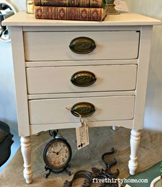 Night Stand In Miss Mustard Seeds Marzipan Real Milk PaintMiss
