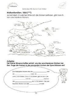 Bildergebnis für wolkenarten grundschule   Schule   Pinterest