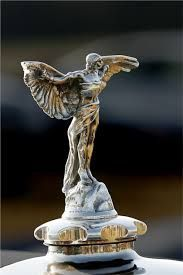 Art Deco Vaseline Glass Spirit Of Ecstasy Rolls Royce Car Mascot Modern Design Periods & Styles Automobiles