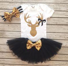 A personal favorite from my Etsy shop https://www.etsy.com/listing/473061920/hunting-bodysuit-deer-bodysuit-girls