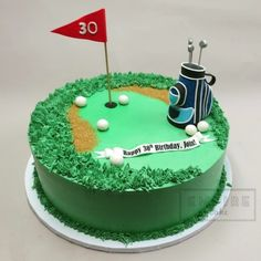 Golf Course Ball Cake Cupcakes Themed Cakes
