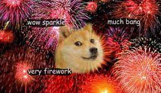 Fireworks Doge