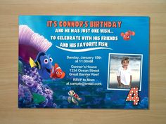 Custom Finding Nemo Birthday