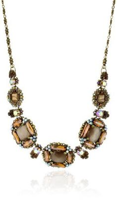 "Sorrelli ""Tapestry"" Crystal and Opaque Statement Gold-Tone Necklace by Sorrelli, http://www.amazon.com/dp/B005553OWG/ref=cm_sw_r_pi_dp_OgcJpb1NC3WRJ"