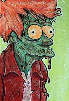 I forgot this one: Fry Zombie by msgdesigns (Mark S. Gagne) #Futurama…