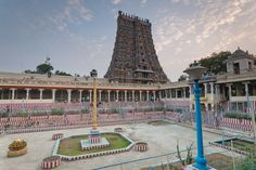 https://flic.kr/p/9FCX9i | Madurai Meenakshi amman temple - Theppakolam | Every big temples have theppakolam[pond].   Ma grandpa [mom's dad] was executive officer in this temple. He was incharge of the entire temple. He got the pond filled with water and had the golden lotus floating. Now, there is no water and lotus is fixed to a place.  One of the other major contributions he made to the temple was to move the god's wedding ritual location to much more bigger location. That gave…