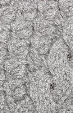 Кашемировая шапка фактурной вязки Loro Piana, светло-серого цвета, арт. FAG4690 в ЦУМ | Фото №3