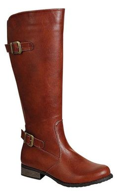 Rustic Brown Tall Riding Boots