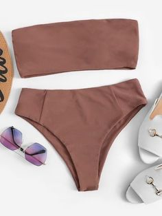 2020 Women Swimsuits Bikini Women Bathing 2 Piece Swimsuits For Moms Women'S Striped One Piece Swimsuit Best Plus Size Swimwear Bikini Bandeau, Bandeau Tops, Bikini Swimwear, Tankini, Swimwear Fashion, Bikini Fashion, 2 Piece Swimsuits, Cute Swimsuits, Cute Bikinis