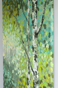 Image result for easy acrylic painting ideas trees