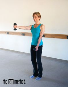 Shoulder walks add definition to your chest muscles while strengthening and aligning your upper back muscles. Chest Muscles, Core Muscles, Upper Back Muscles, Bar Method, Thing 1, Total Body, Health Fitness, Sporty, Exercises