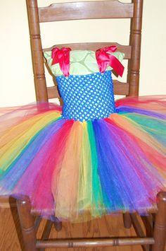 Rainbow Brite Inspired Tutu Dress by TotallyTerrificTUTUS on Etsy, $22.00