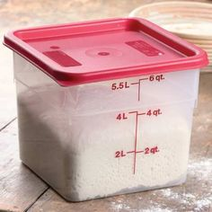 Flour storage, baking supplies Food Storage Container - 6 Quart Several Sizes available from kingarthurflour.com